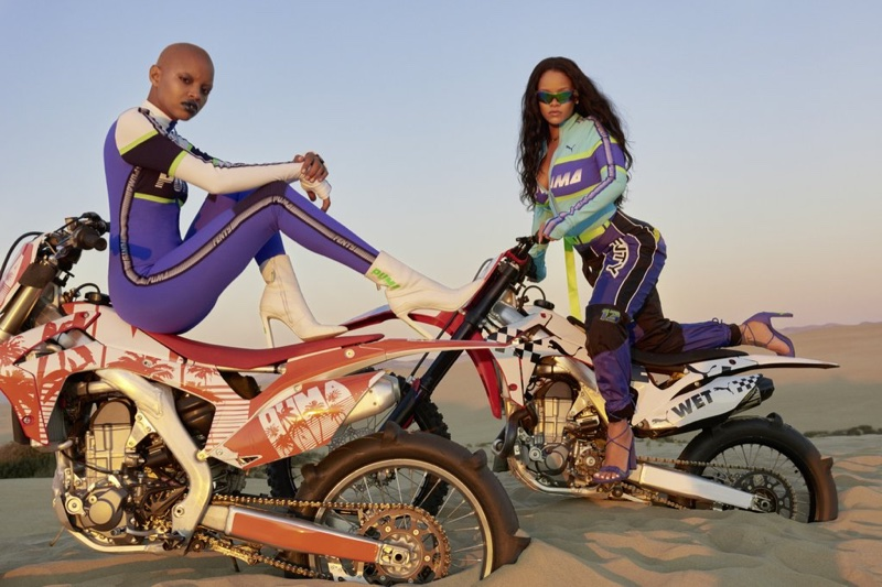 Rihanna and Slick Woods star in Fenty PUMA's spring-summer 2018 campaign