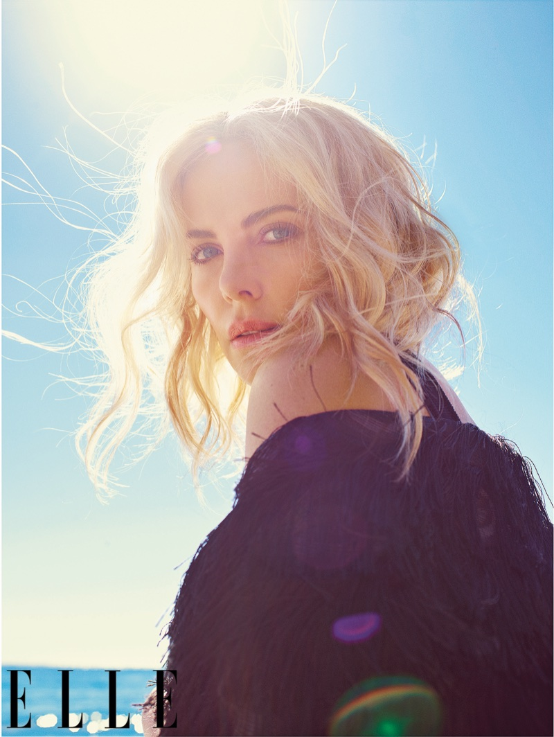 Charlize Theron Stuns at the Beach for ELLE Cover Story