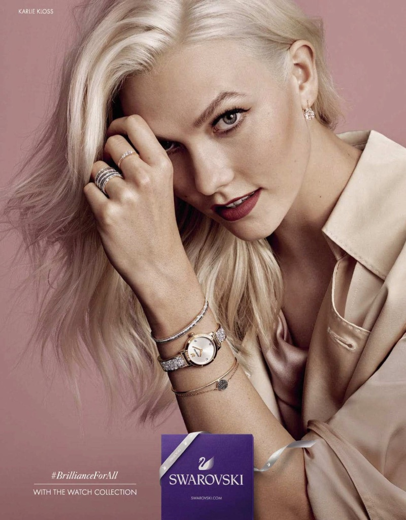 Karlie Kloss Sparkles in New Swarovski Jewelry Ads