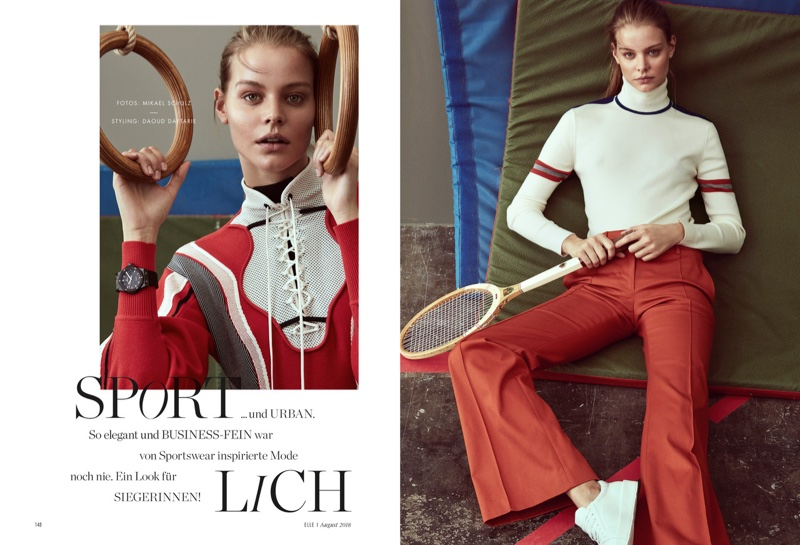Carolin Loosen Looks Sporty Chic in ELLE Germany