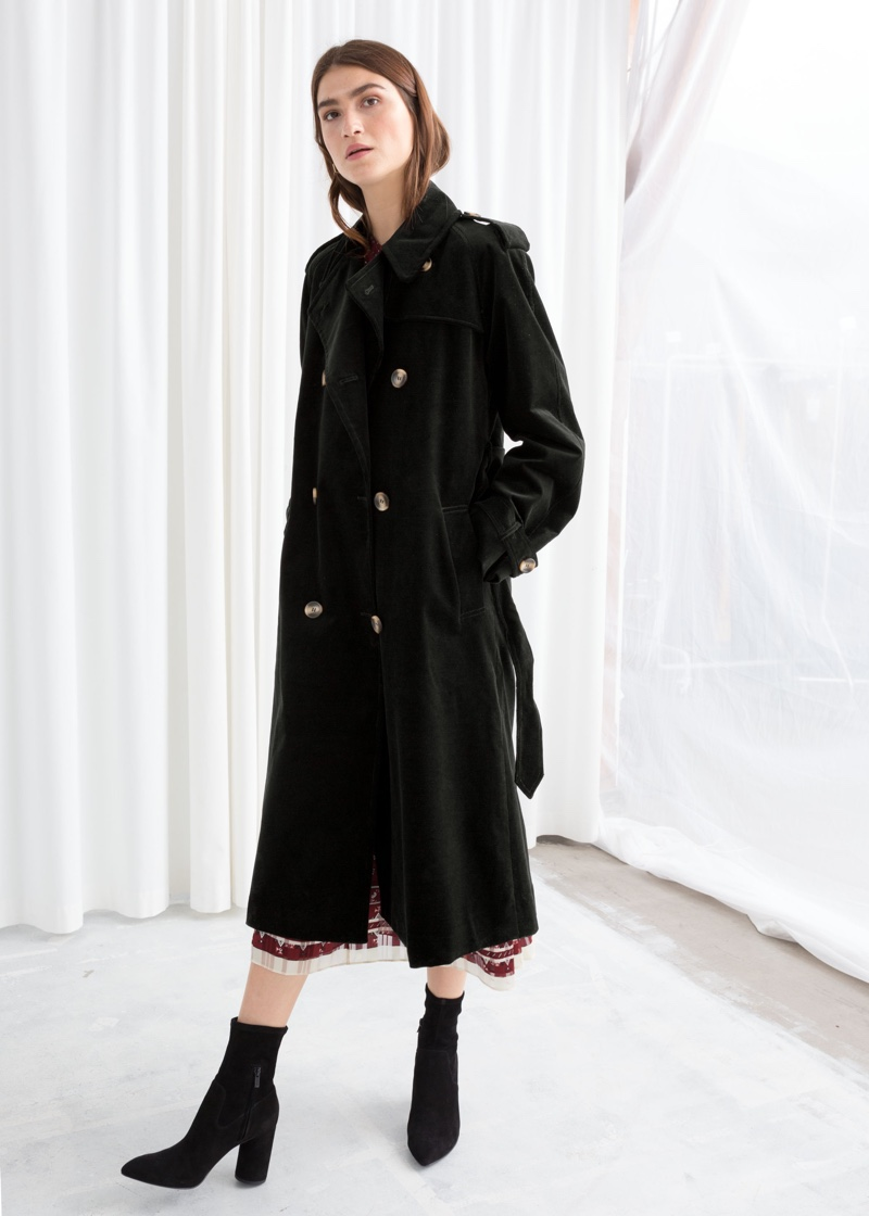 & Other Stories Belted Cotton Cord Trench Coat $109 (previously $219)