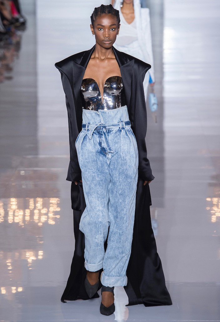 Acid-wash jeans on the runway.