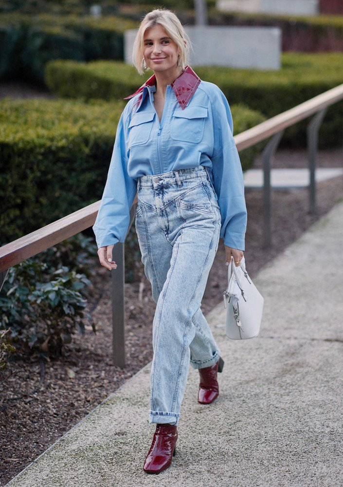 Acid-wash jeans on the streets.